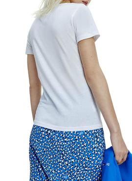 T-Shirt Tommy Jeans Essential Bianco per Donna