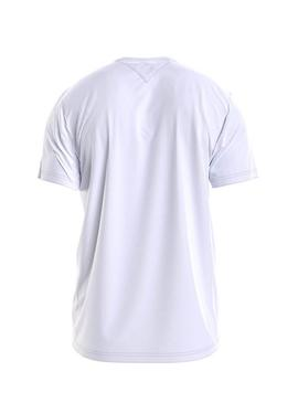 T-Shirt Tommy Jeans Corp Logo Bianco per Uomo