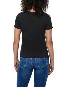 T-Shirt Only Faye Life Nero per Donna
