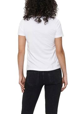 T-Shirt Only Faye Life Bianco Per Donna