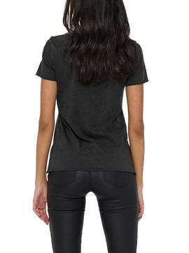 T-Shirt Only Lucy Life Nero per Donna