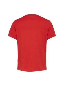 T-Shirt Tommy Jeans Americana Rosso per Donna