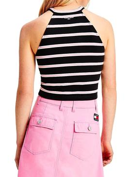 Top Tommy Jeans Crop Striped per Donna
