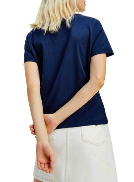 T-Shirt Tommy Jeans Timeless Blu Blu Navy Donna