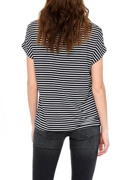 T-Shirt Only Zia Nero per Donna