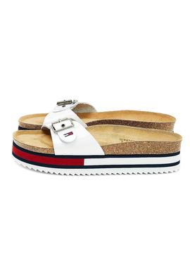 Sandali Tommy Hilfiger Color Block Bianco Donna