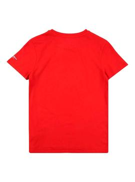 T-Shirt Pepe Jeans Jack Mars Rosso per Bambino