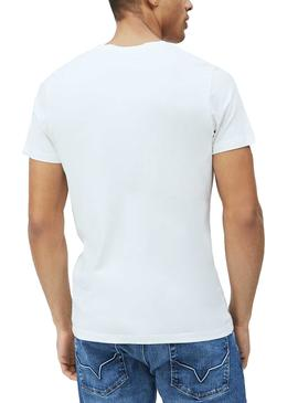 T-Shirt Pepe Jeans Davy Bianco per Uomo