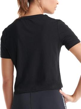 T-Shirt Superdry Gymtech Taped Nero per Donna